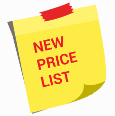 New price lists for international transport of pallet shipments