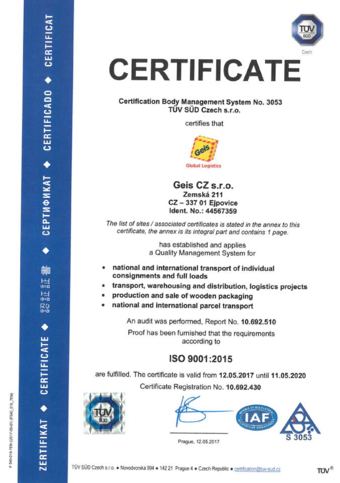 Certification With Straight A S Geis Group Cz En